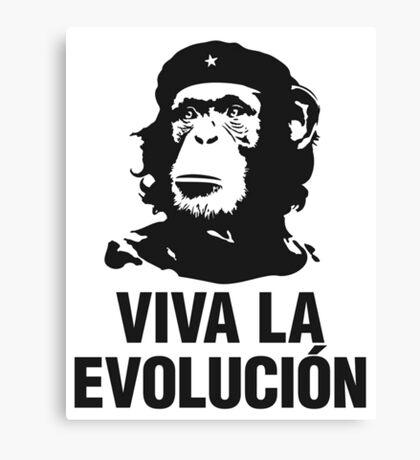 Viva la evolucion - cuban parody Canvas Print