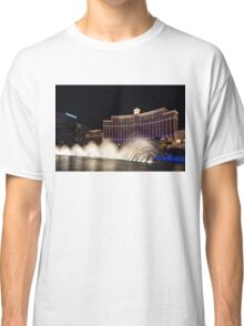 Midnight Dance - Silky Bellagio Fountains at Night Classic T-Shirt