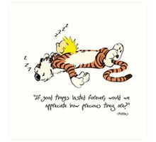 Calvin And Hobbes Quote Art Print