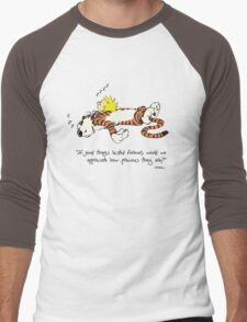 Calvin And Hobbes Quote Men's Baseball ¾ T-Shirt