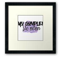 The 100 - Yu Gonplei Ste Odon - Purple Framed Print