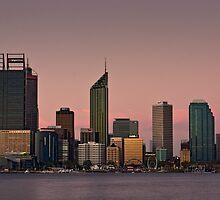 Perth Skyline at Dusk (2016) by Austin Dean