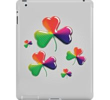 Eerie shamrock: Kiss me - I'm Irish! iPad Case/Skin