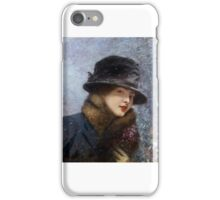 Henri Gervex  Young woman violets iPhone Case/Skin