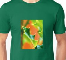 Ilex leaf closeup Unisex T-Shirt