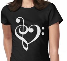 Music notes Womens Fitted T-Shirt