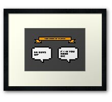 Two kinds of player Framed Print
