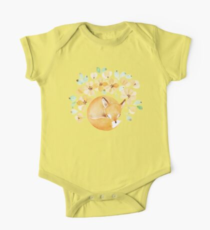 Nap under Yellow flowers One Piece - Short Sleeve