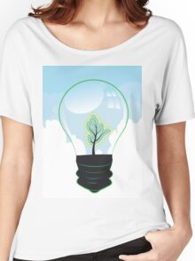 Tree in a Lightbulb 2 Women's Relaxed Fit T-Shirt