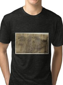 222 Plat of lands lying between Manns and Kenneys Creeks in Fayette Co West Virginia owned by Echols Bell Catlette January 1880 Tri-blend T-Shirt
