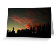 Blood stained sky Greeting Card