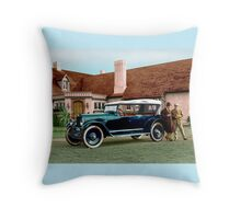 Colorized 1919 Paige Touring Car Throw Pillow