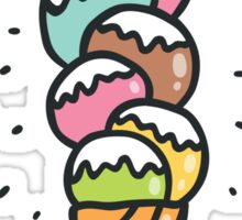 cat ice cream Sticker