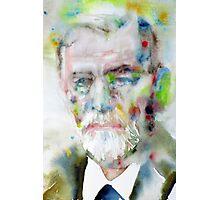 SIGMUND FREUD - watercolor portrait.11 Photographic Print