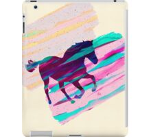 Horse Paintbrush watercolor Rainbow Collage iPad Case/Skin