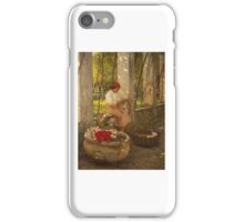 Henry Herbert La Thangue - A Ligurian Flower Girl iPhone Case/Skin