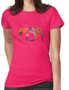 Rugby men players 05 in watercolor Womens Fitted T-Shirt