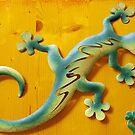 Salamanders on the wall by Arie Koene