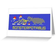 Monsterpotamus Pixel Greeting Card