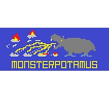 Monsterpotamus Pixel Photographic Print