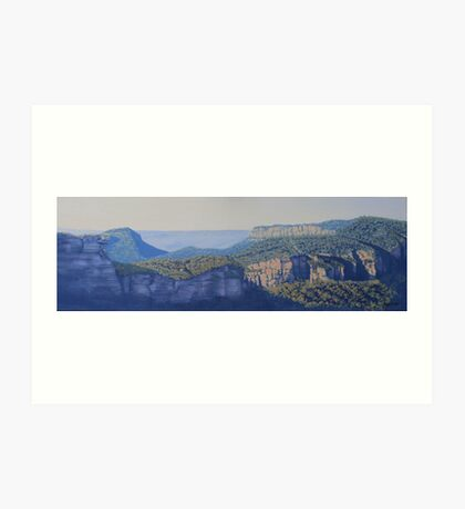 Hilda's View - Oil painting on canvas Art Print