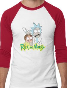 rick morty, rick, rick sanchez, cartoon, fun, youtube, science. Men's Baseball ¾ T-Shirt