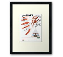 What is Life - Native American Nursery Print Framed Print