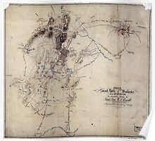 255 Sketch of the second battle of Winchester June 13th 14th and 15th 1863 Poster