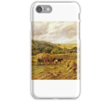 Henry Parker - Harvest Time, Lambourne, Berks iPhone Case/Skin
