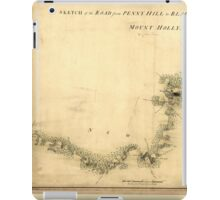 American Revolutionary War Era Maps 1750-1786 873 Sketch of Haddonfield Sketch of the road from Penny Hill to Black Horse through Mount Holly 1778 iPad Case/Skin