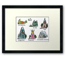 #7 Montagnette Framed Print