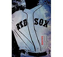Boston Red Sox, baseball team, wall art print, typography Photographic Print