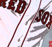 Boston Red Sox Baseball, Typography Sticker