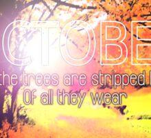 U2 October Sticker