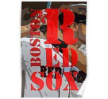 Red Sox, Boston, baseball team, Original Typography Art Poster