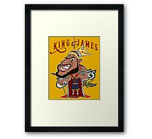 KING JAMES Framed Print