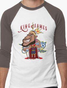 KING JAMES Men's Baseball ¾ T-Shirt