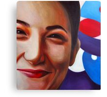 Smile, 2011, 100-100cm, oil on canvas Canvas Print