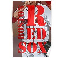 Boston Red Sox original typography, baseball team Poster