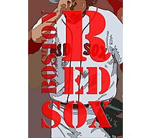 Boston Red Sox original typography, baseball team Photographic Print