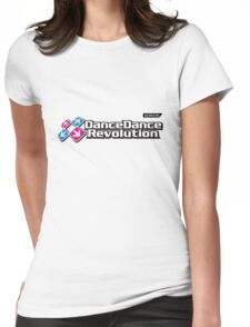 Dance Dance Revolution by Konami Womens Fitted T-Shirt