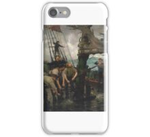 Henry Scott Tuke,   All Hands to the Pumps  iPhone Case/Skin