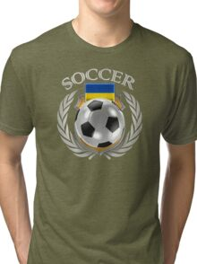 Ukraine Soccer 2016 Fan Gear Tri-blend T-Shirt