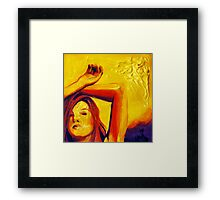 Sunlight, 15-15cm, 2011, watercolors and acryl Framed Print