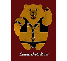 LEATHER LOVIN BEAR! Photographic Print