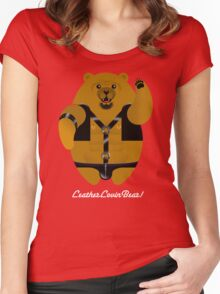 LEATHER LOVIN BEAR! Women's Fitted Scoop T-Shirt