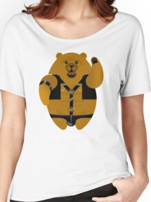 LEATHER LOVIN BEAR! Women's Relaxed Fit T-Shirt