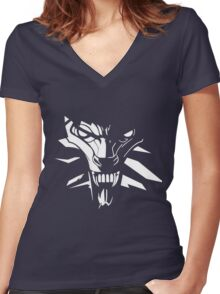 White wolf Women's Fitted V-Neck T-Shirt