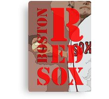 Boston Red Sox Typography wall poster Canvas Print