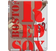 Boston Red Sox Typography wall poster iPad Case/Skin
